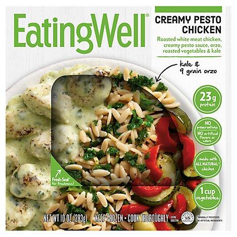 EatingWell Frozen Entree Creamy Pesto Chicken - 10 Oz
