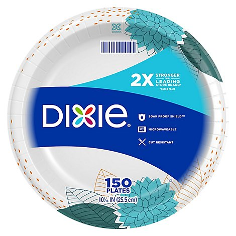Dixie Everyday Paper Plates Printed 10 1/16 Inch - 150 Count