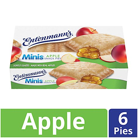 Entenmanns Minis Snack Pies Apple - 6 Count