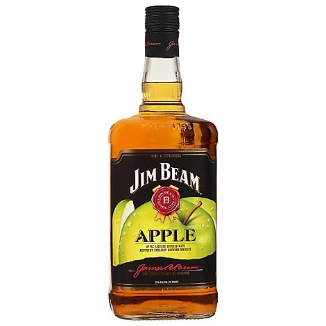 Jim Beam Whiskey Bourbon Kentucky Straight Apple 70 Proof - 1.75 Liter