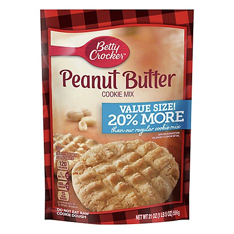 Betty Crocker Cookie Mix Peanut Butter Value Size - 21 Oz
