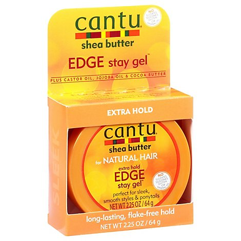 Cantu Extra Hold Edge Stay Gel - 2.25 Oz