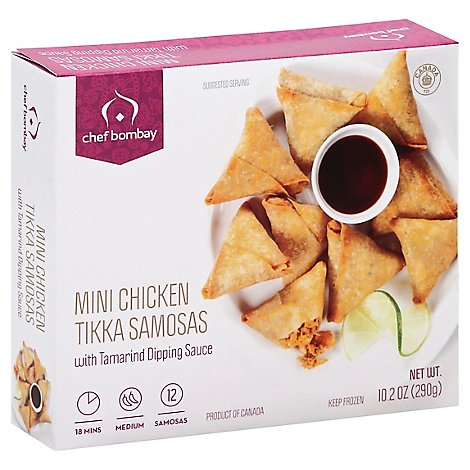 Chef Bombay Sauce Mini Chicken Tikka Samosas - 10.2 Oz