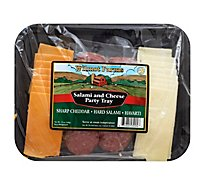 Wilmot Farms Party Tray Salami & Cheese Hard Salami Sharp Cheddar & Havarti - 12 Oz