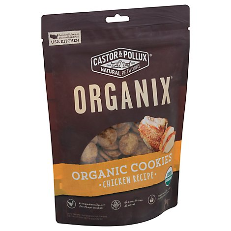 Castor & Pollux Organix Dog Treats Organic Cookies Chicken Flavor Bag - 12 Oz