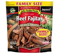 John Soules Beef Fajitas Family Size Fully Cooked - 14 Oz