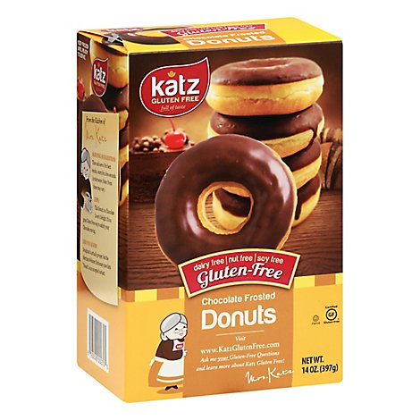 Katz Donut Gluten Free Chocolate Frosted - 14 Oz
