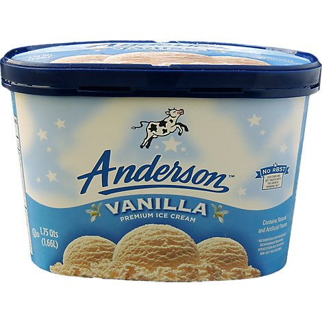 Anderson Vanilla Ice Cream - 1.75 Quart