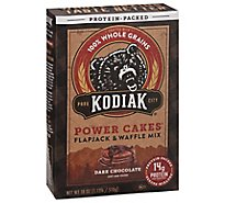 Kodiak Cakes Flapjack and Waffle Mix Power Cakes Dark Chocolate Protein Packed Box - 18 Oz