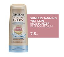 JERGENS Natural Glow Wet Skin Moisturizer Fair To Medium Skin Tones - 7.5 Fl. Oz.