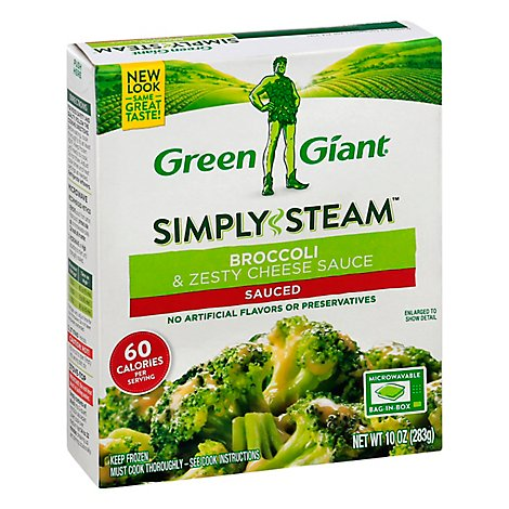 Green Giant Steamers Broccoli & Zesty Cheese Sauced - 10 Oz