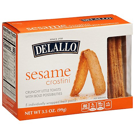 Delallo Crostini Sesame - 3.5 Oz
