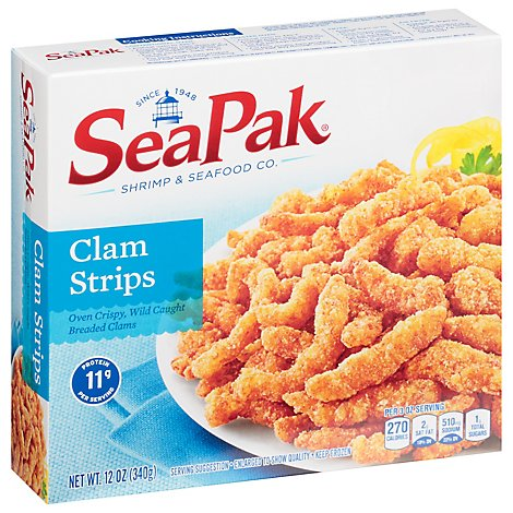 SeaPak Clams Strips Oven Crispy - 12 Oz