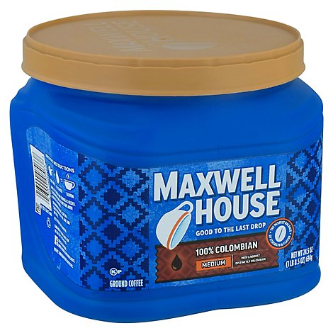Maxwell House Coffee Ground Medium Colombian - 24.5 Oz