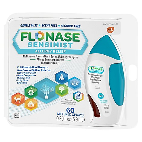 FLONASE Sensimist Allergy Relief Metered Spray 60 Sprays - 0.34 Fl. Oz.