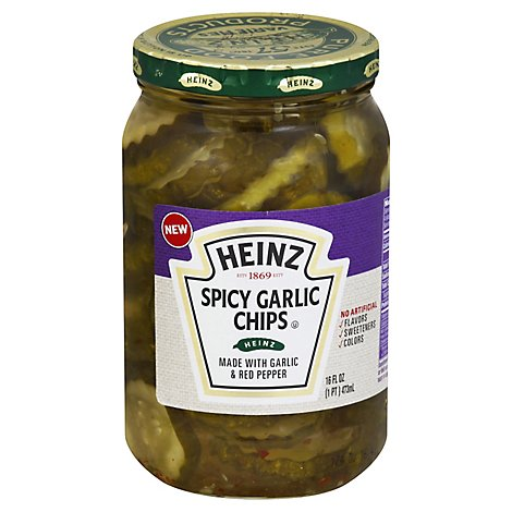 Heinz Pickles Chips Spicy Garlic - 16 Fl. Oz.