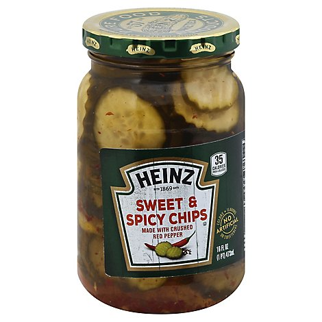 Heinz Pickles Chips Sweet & Spicy - 16 Fl. Oz.