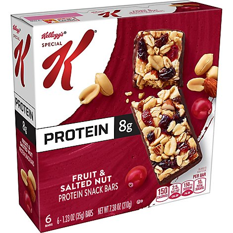 Special K Protein Snack Bars Fruit & Salted Nut 6 Count - 7.38 Oz