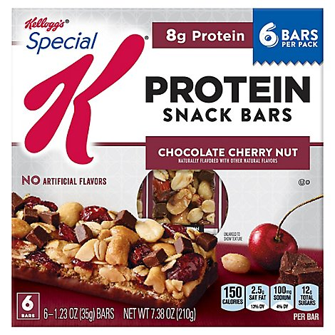 Special K Protein Snack Bars Chocolate Cherry Nut 6 Count - 7.38 Oz