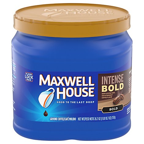 Maxwell House Coffee Ground Bold Intense Bold - 26.7 Oz