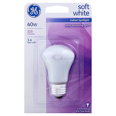 Gen Elec 40w Indoor Spotlght - Each