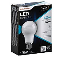 Signature SELECT/Bright Green Light Bulb LED Soft White 10W A19 760 Lumens - 4 Count