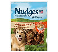Nudges Natural Dog Treats Homestyle Made With Real Chicken Peas And Carrots - 10 Oz