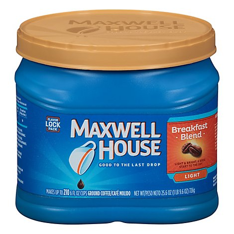 Maxwell House Coffee Ground Light Breakfast Blend - 25.6 Oz