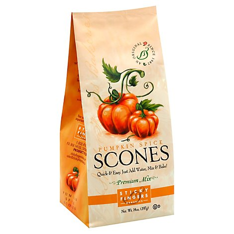 Sticky Fingers Scones Premium Mix Pumpkin Spice - 15 Oz