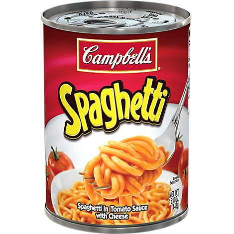 Campbells Spaghetti in Tomato Sauce with Cheese - 14.2 Oz