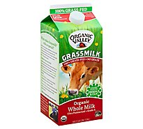 Organic Valley Grassmilk Organic Milk Whole Half Gallon - 1.89 Liter