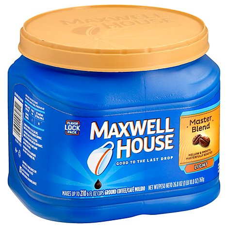 Maxwell House Coffee Ground Light Master Blend - 26.8 Oz