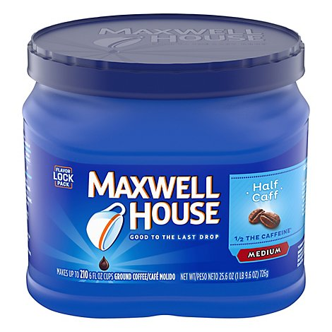 Maxwell House Coffee Ground Medium Half Calf - 25.6 Oz