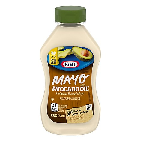 Kraft Mayo Mayonnaise Reduced Fat Avocado Oil Squeeze Bottle - 12 Fl. Oz.