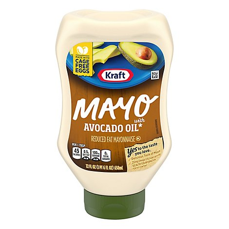 Kraft Mayo Mayonnaise Reduced Fat Avocado Oil Squeeze Bottle - 22 Fl. Oz.