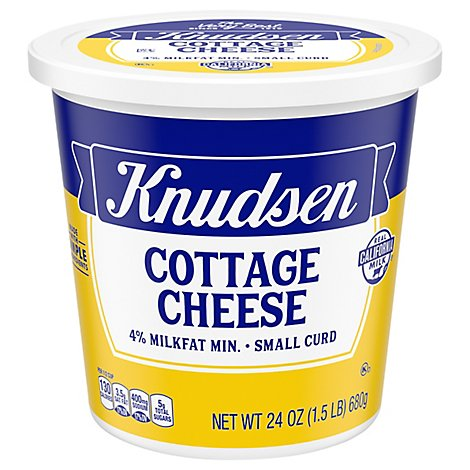 Knudsen Cottage Cheese 4 % Milkfat Small Curd - 24 Oz