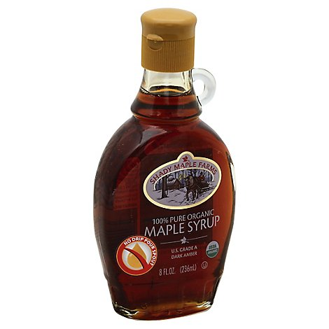 Shady Maple Syrup Ambr Rich Taste Organic - 8 Oz