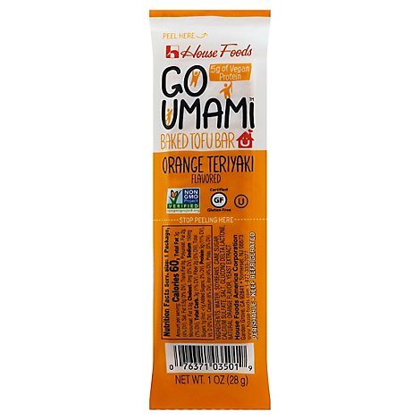 House Foods Go Umami Tofu Bar Orange Teriyaki - 1 Oz