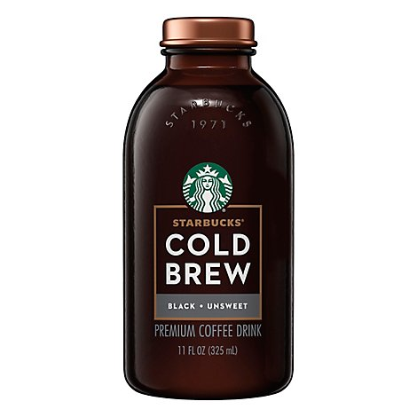 Starbucks Cold Brew Black Unsweetened - 11 Fl. Oz.