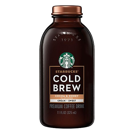 Starbucks Cold Brew Cocoa & Honey With Cream - 11 Fl. Oz.