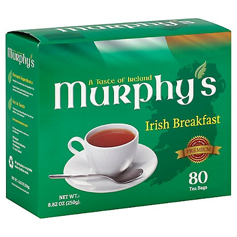 Murphys A Taste of Ireland Tea Premium Irish Breakfast 80 Count - 8.82 Oz