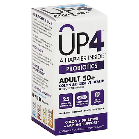 Up4 Probiotic Adult 50 Plus 25 Billion - 60 Count