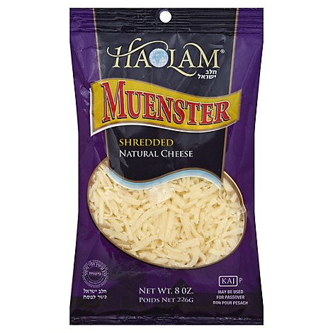Hlam Shred Muenster Cheese - 8 Oz