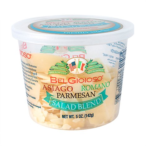 Belgioioso Caesar Blend Cheese Shaved - 5 Oz