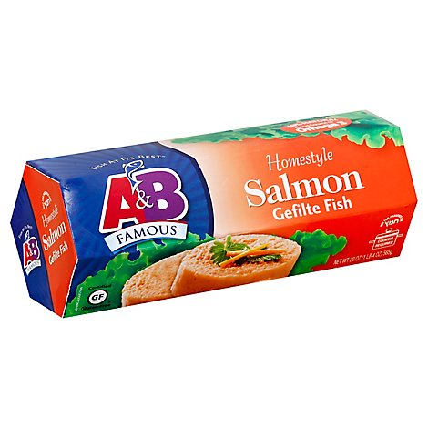 A & B Salmon Gefilte Fish - 20 Oz