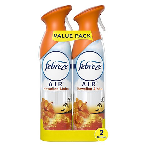 Febreze AIR Air Freshener Odor Eliminating Hawaiian Aloha - 2-8.8 Oz