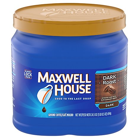 Maxwell House Coffee Ground Dark Dark Roast - 24.5 Oz