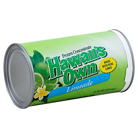 Hawaiis Own Juice Frozen Concentrate Limeade - 12 Fl. Oz.