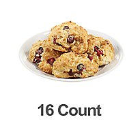 Bakery Scone Mini Cranberry Orange 16 Count - Each