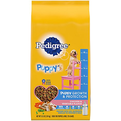 Pedigree Dog Food Puppy Dry Growth & Protection Chicken & Vegetable - 3.5 Lb